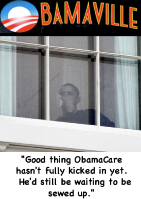 Obamaville's President at the local hospital